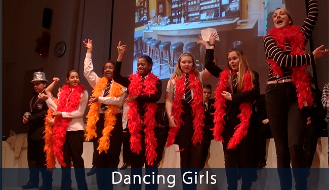 Dancing Girls photo from VoiceChoice project at BBA School Nottingham